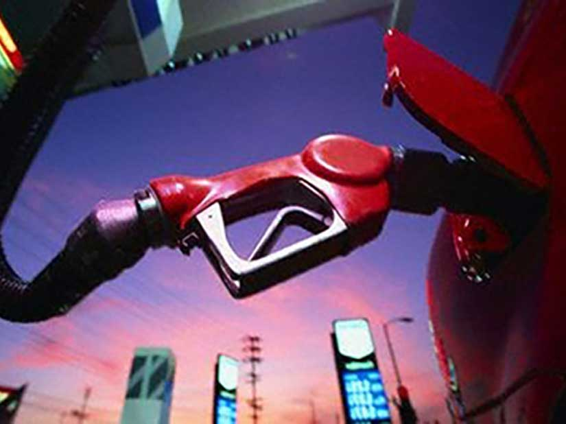Gas pump in car
