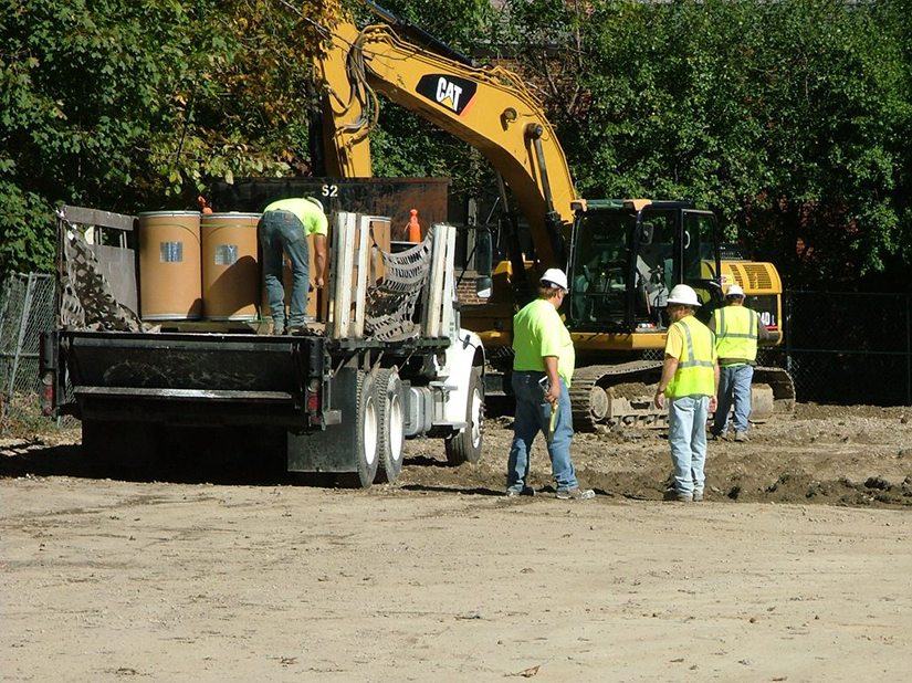 Excavation oversight during site construction