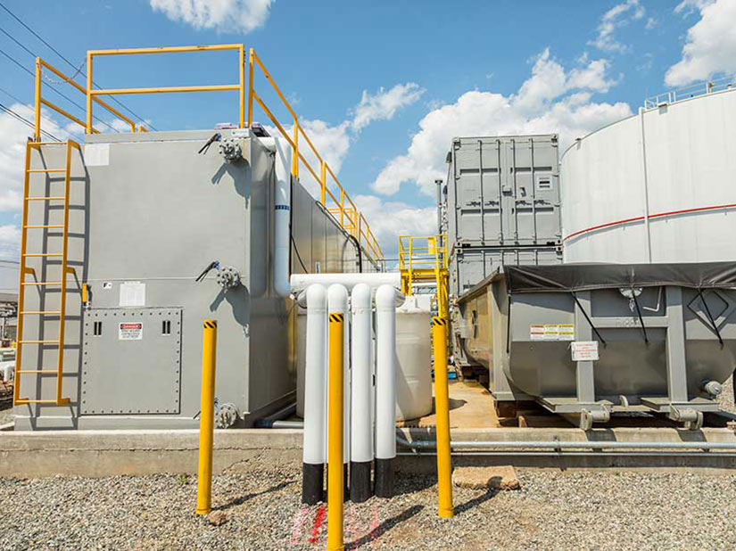 Exterior of Groundwater Treatment System