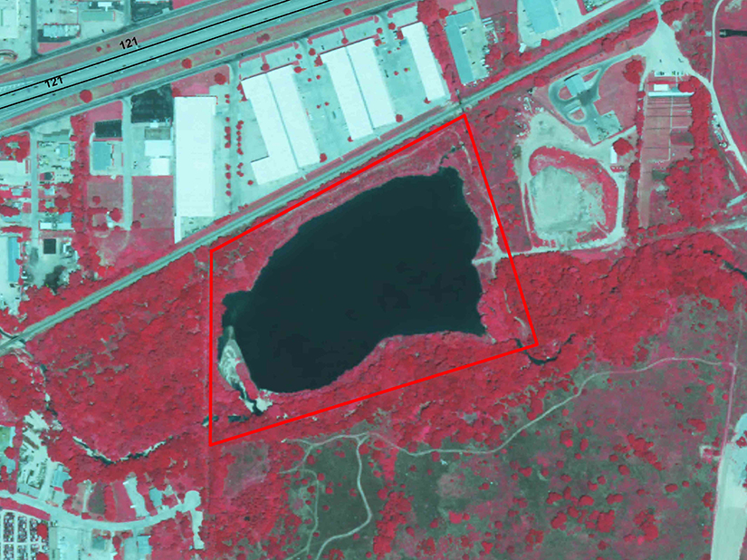 Aerial photograph ecological risk assessment