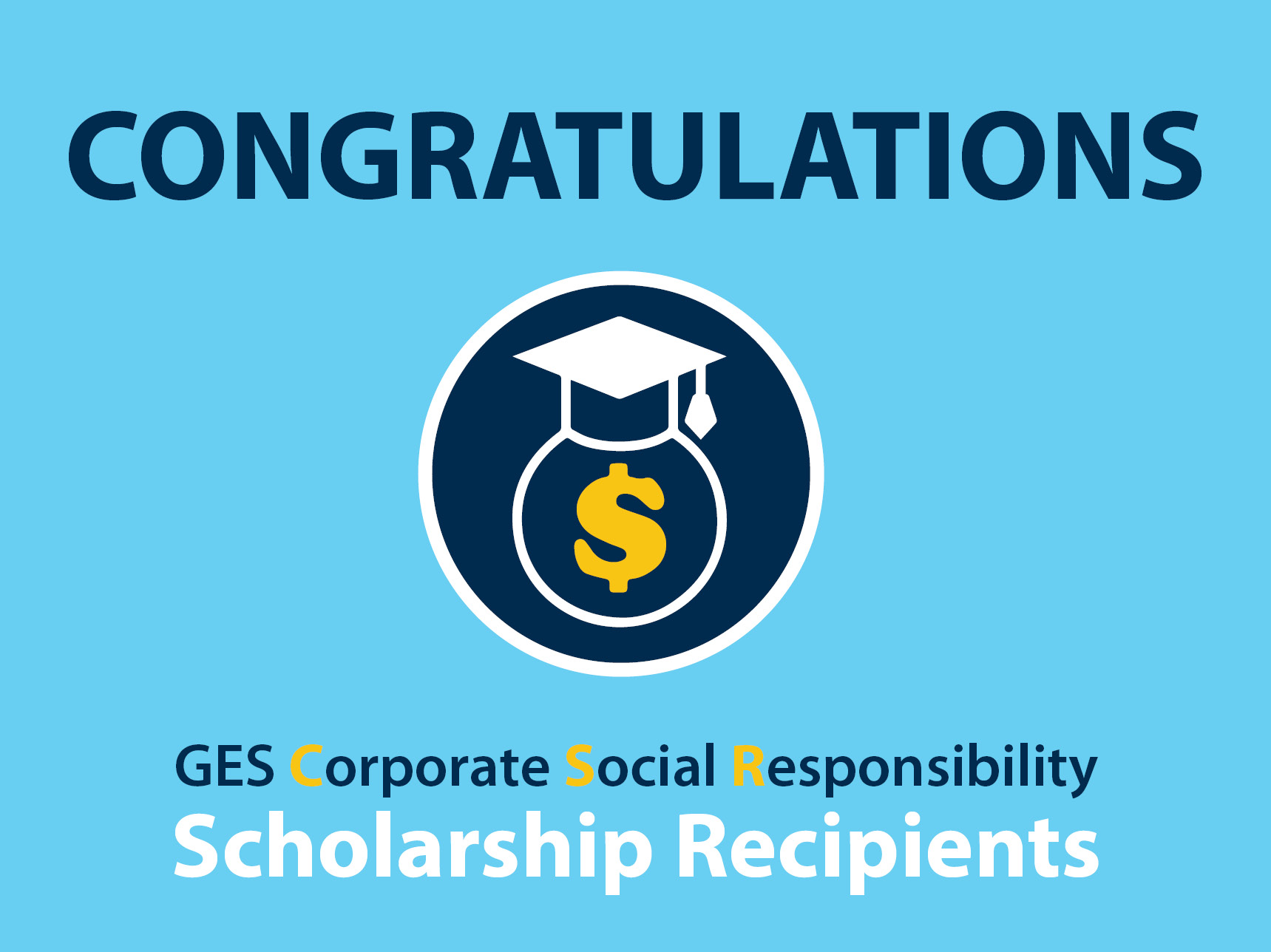 GES CSR Scholarship Graphic