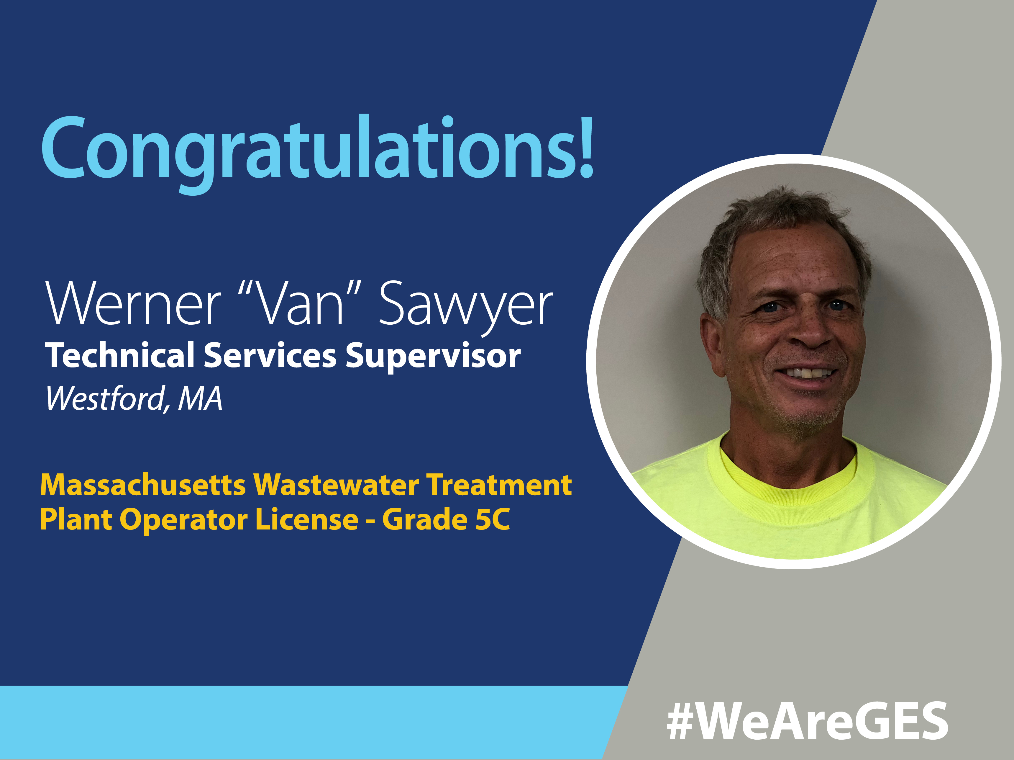 Werner (Van) Sawyer Achieves Grade 5C Operator License