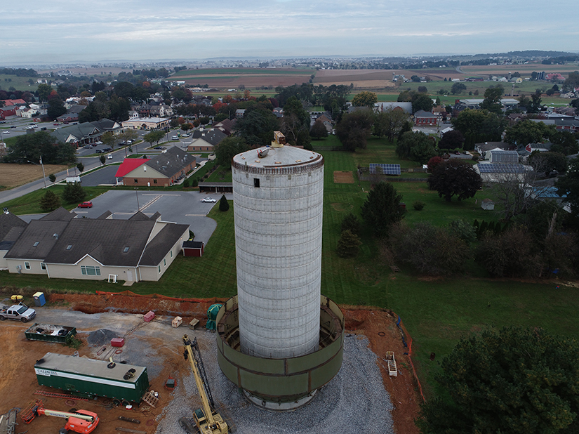 Intercourse PA Water Tower Construction