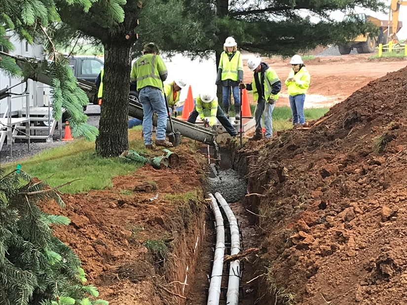 Well Supply Line Trenching