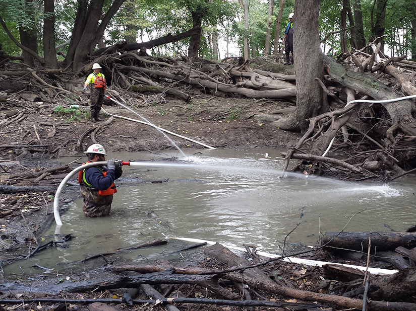 Stream remediation following emergency