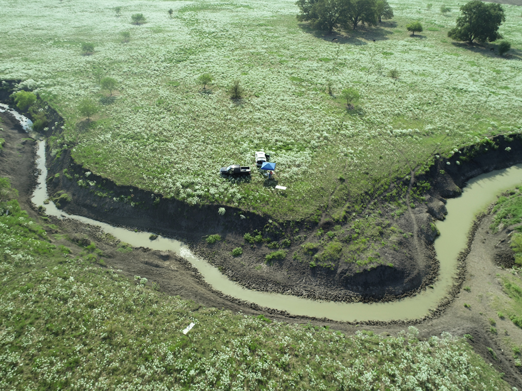 drone view; inspection of mitigation bank