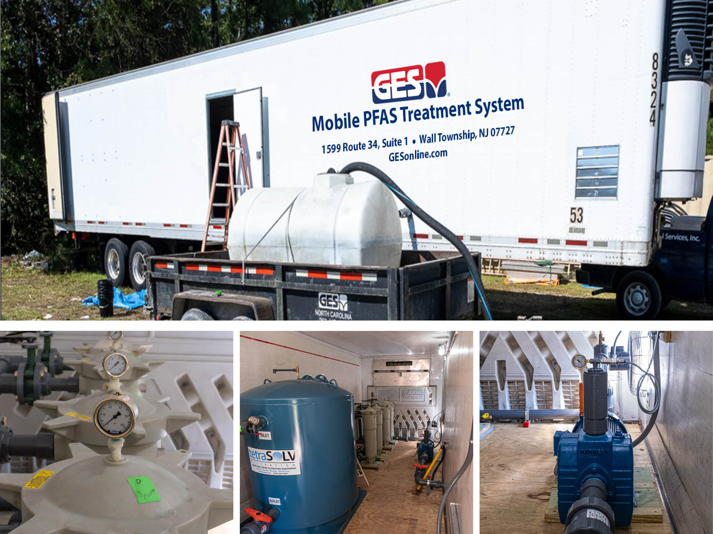 GES Mobile PFAS Treatment trailer